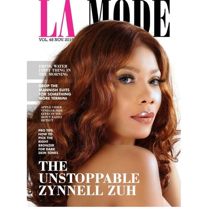 Zynnell Zuh is Unstoppable as she covers La Mode Magazine's November Issue