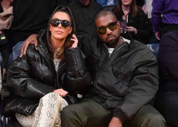 Kim Kardashian and Kanye Wests Latest Couple Style Moment was during a Basketball Game