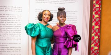 """Chimamanda hosted Lupita to a Night of Fun & Laughter for """"Americanah"""" 