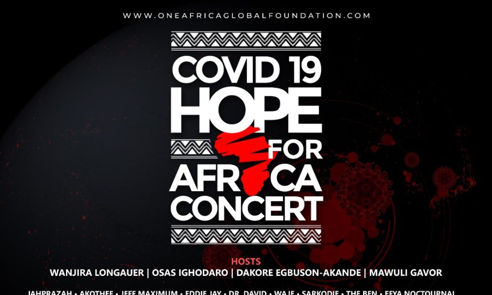 Here's How You can be a Part of The COVID-19 Hope For Africa Benefit Concert