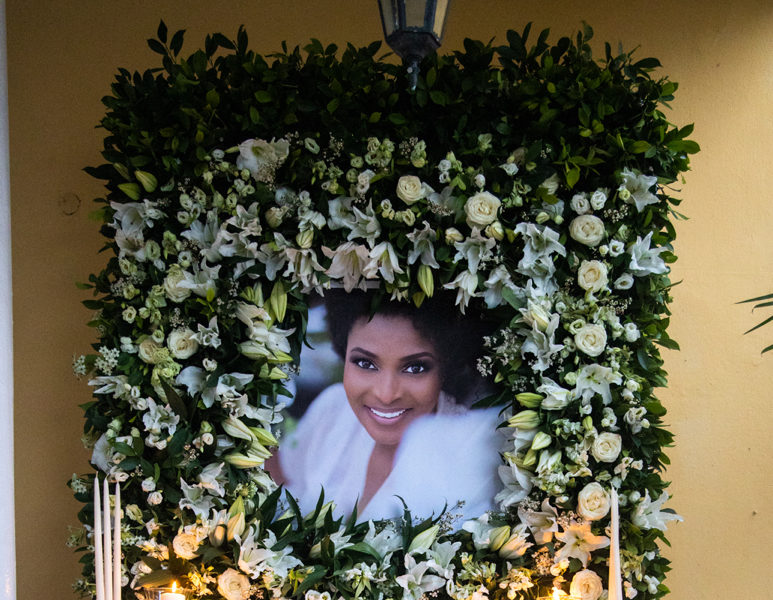 A Beautiful Floral Procession Was Held as a Tribute to Ibidunni Ighodalo