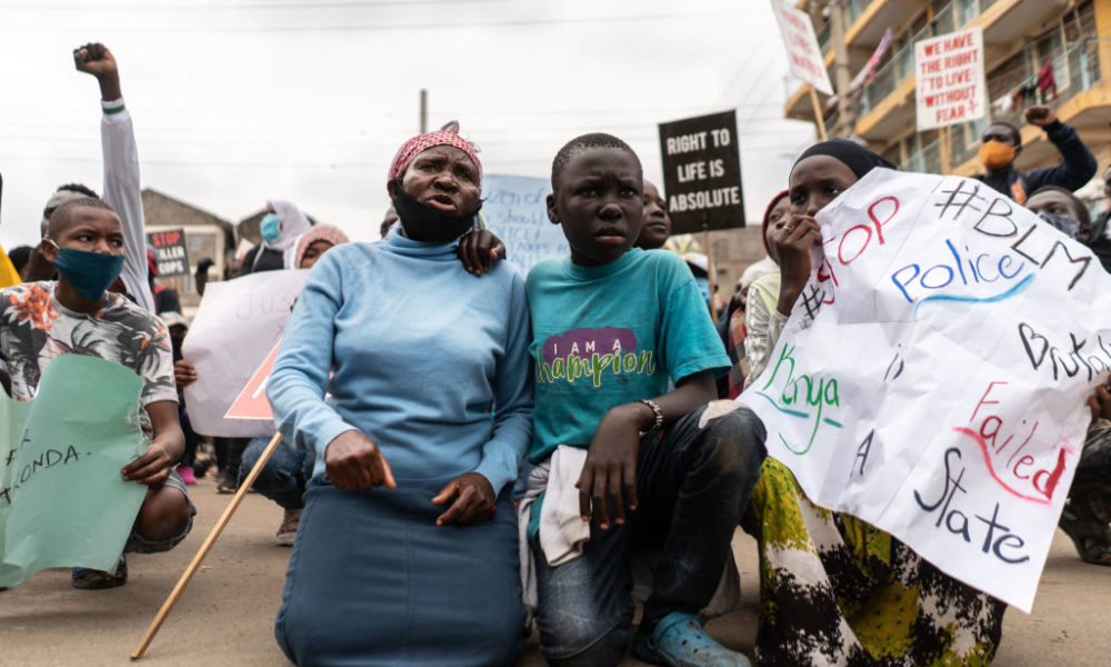 Kenyans stage Peaceful Protest against Police Brutality