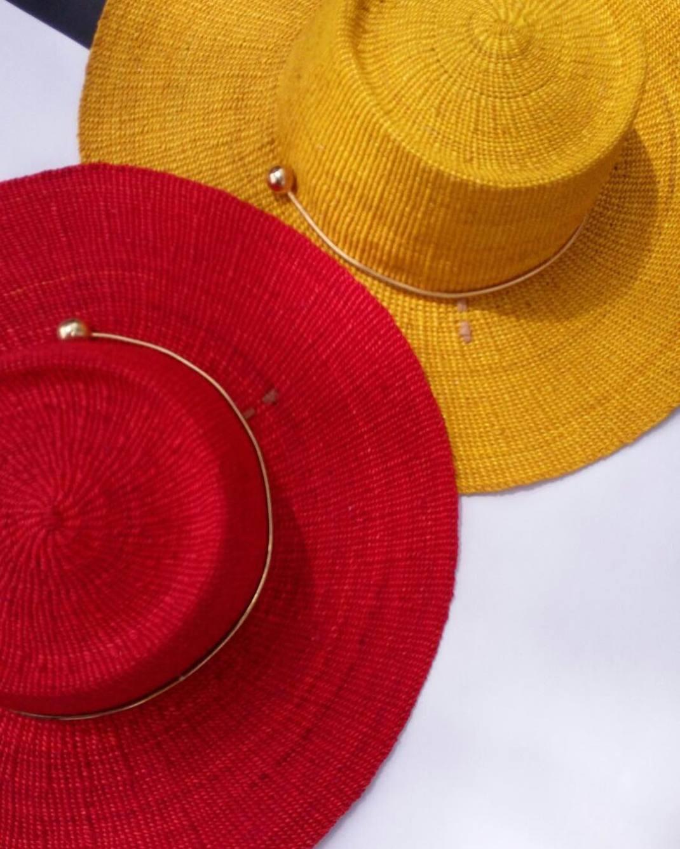minimalist jewelry african orne ocha davana lagos ghana woven hat holiday