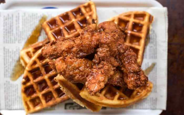The Ultimate Brunch Recipe for Buttermilk Fried Chicken and Crispy but Sweet Fluffy Waffles