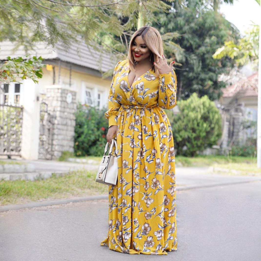 abuja blogger curvy maxi dress