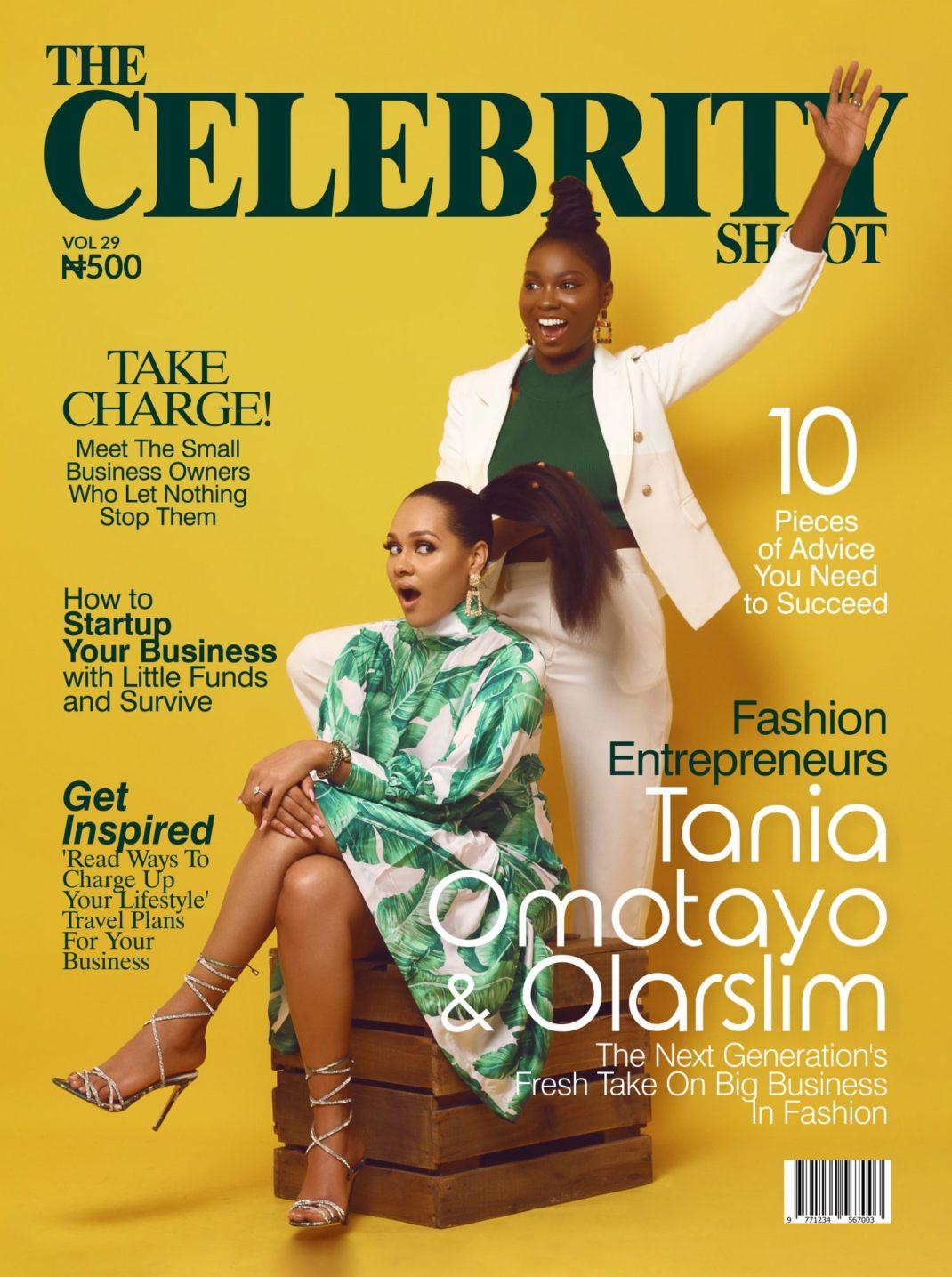 Taniah Omotayo and Olar Slim Stun on the Cover of The Celebrity Shoot Magazine