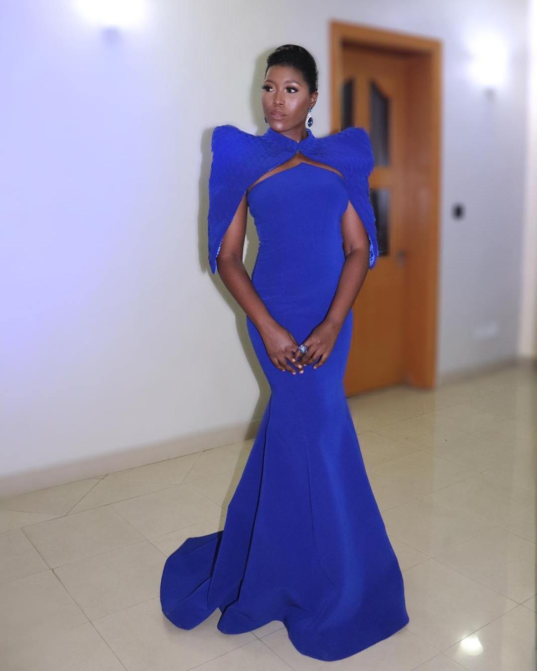 Vimbai Mutinhiri is all shades of gorgeous in this blue dress