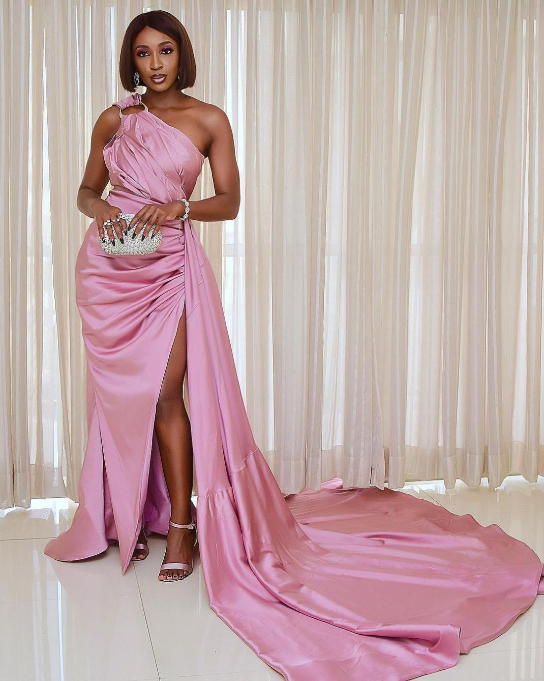Media personality, Seyi Atigarin wore this stunning dress to the Film Gala