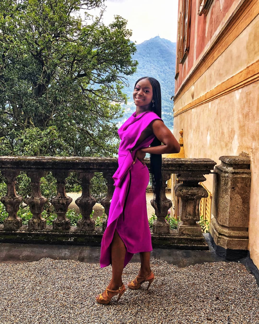Afua Osei Pulls Off Her Most Glamorous Trip Seems to be But on Her Italian Journey to Lake Como and Venice