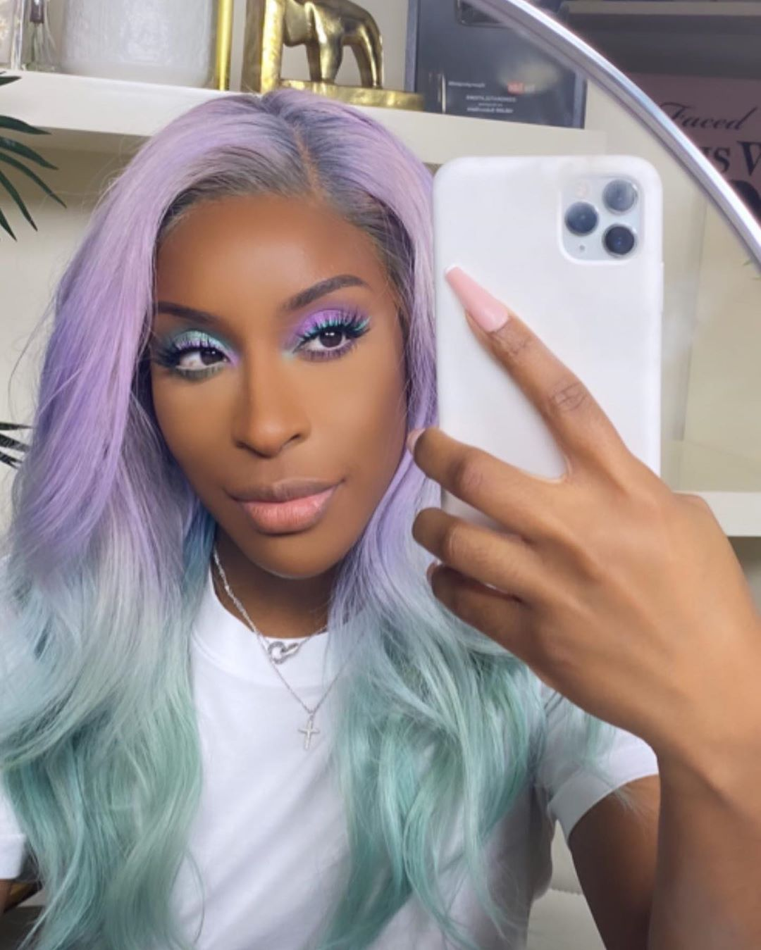 Jackie Aina's New Routine Proves Pastel Makeup Looks BOMB On Dark Skin | BN Style