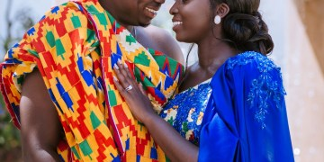 Estella & Felix's Ghanaian Trad Engagement was Colour popping Fab