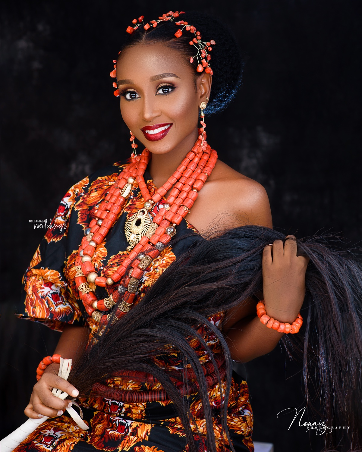 Coral Beads + a Stunning Hairstyle = Todays Igbo Bridal Beauty Look
