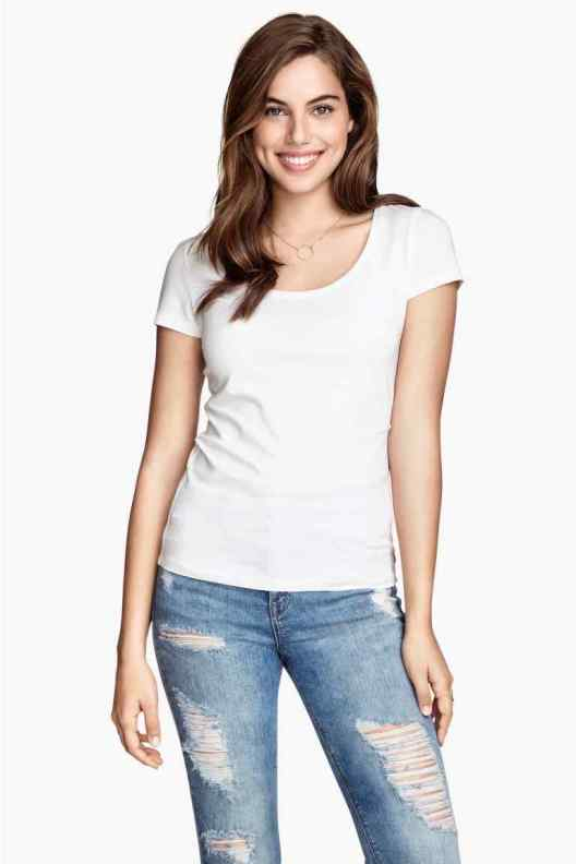 T-shirt bianca h&M