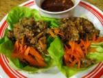 Vegetarian Asian Lettuce Wraps