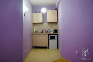 Кухненски бокс в напълно обзаведен апартамент под наем Благоевград буда