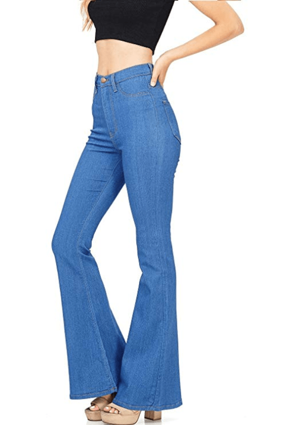 Lutratocro Womens Casual Stretch Comfortable Straight Leg Faded Denim Pants Jeans