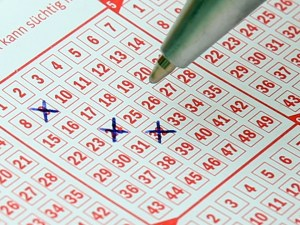 X marking Lotto Card