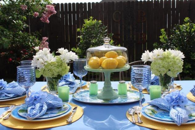 Belle Bleu Interiors Hydrangea Tablescape 12