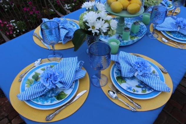 Belle Bleu Interiors Hydrangea Tablescape 3