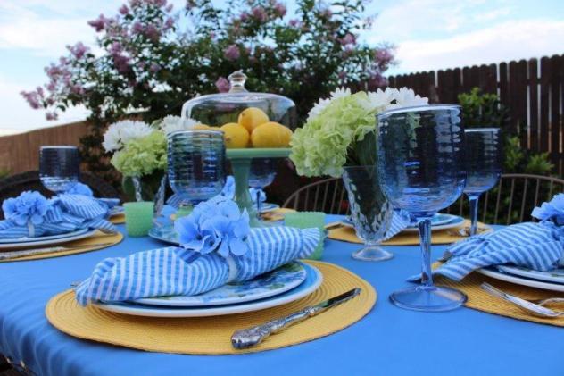 Belle Bleu Interiors Hydrangea Tablescape 7