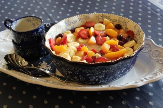 fruit salad finished
