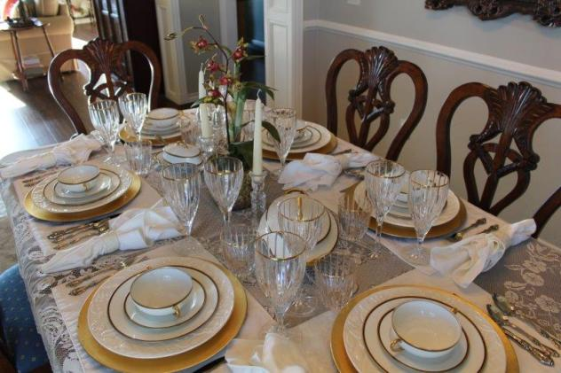 Belle Bleu Interiors Elegant Tablescape 2