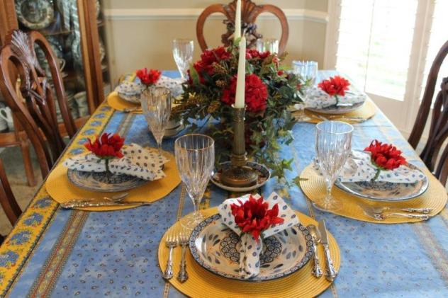 Belle Bleu Interiors French Country Tablescape 1