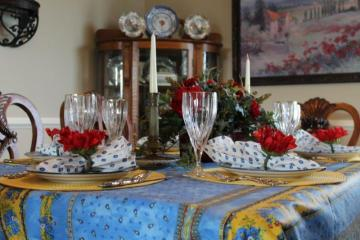 Belle Bleu Interiors French Country Tablescape 9
