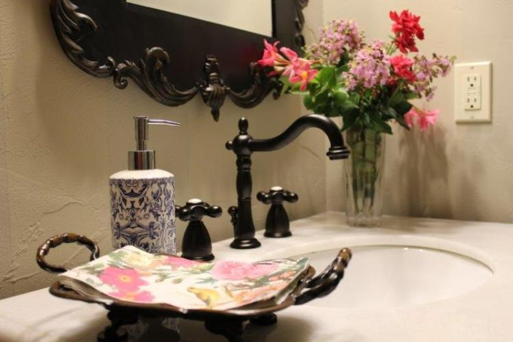 FRENCH COUNTRY POWDER BATHROOM