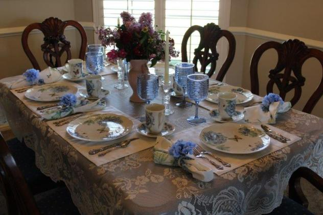 Belle Bleu Interiors Blue Butterfly Meadow Tablescape 5