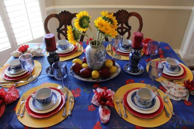 Belle Bleu Interiors Colorful Tablescape 1