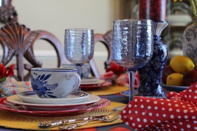 Belle Bleu Interiors Colorful Tablescape 4