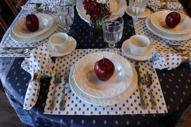 Belle Bleu Interiors Simple Blue and White Tablescape 14