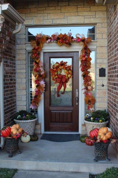 Belle Bleu Interiors Fall Front Porch 2