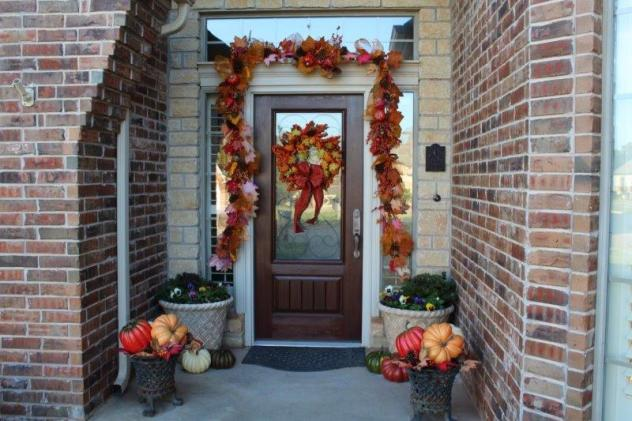 Belle Bleu Interiors Fall Front Porch 3