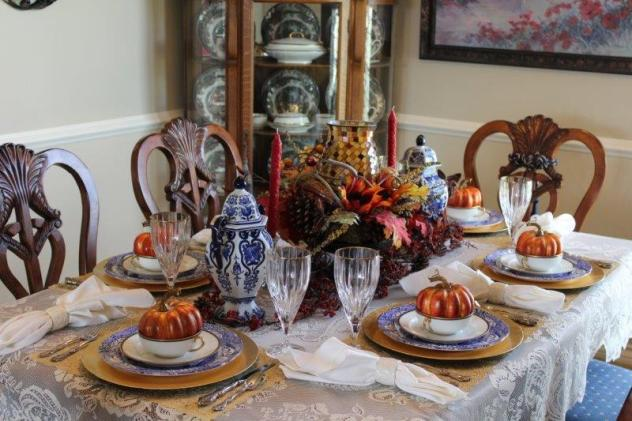 Belle Bleu Interiors Fall Tablescape 13