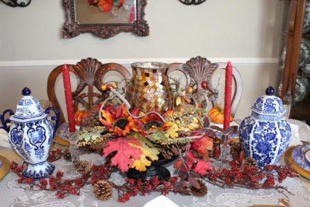 Belle Bleu Interiors Fall Tablescape 2