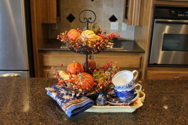 Belle Bleu Interiors Fall Tiered Tray 7