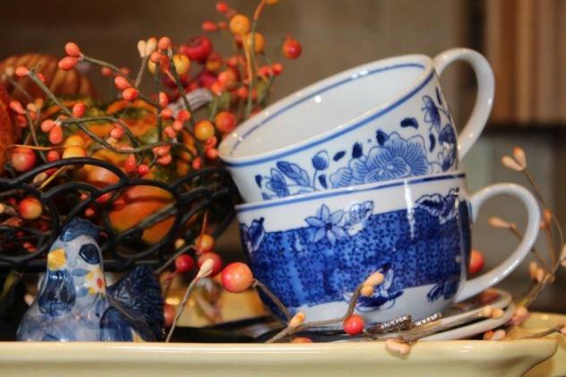 Belle Bleu Interiors Fall Tiered Tray 8