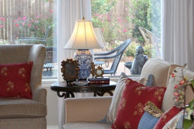 Belle Bleu Interiors French Country Living Room Fall Tour 17