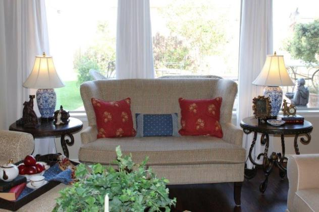 Belle Bleu Interiors French Country Living Room Fall Tour 21