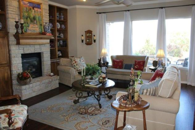 Belle Bleu Interiors French Country Living Room Fall Tour 30
