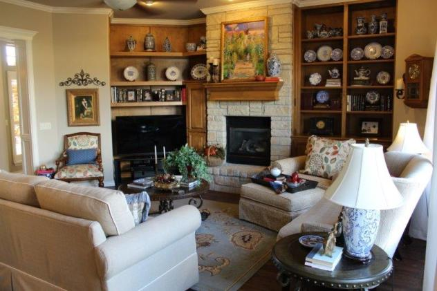 Belle Bleu Interiors French Country Living Room Fall Tour 32
