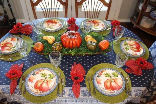 Belle Bleu Interiors Pumpkin Tablescape 13