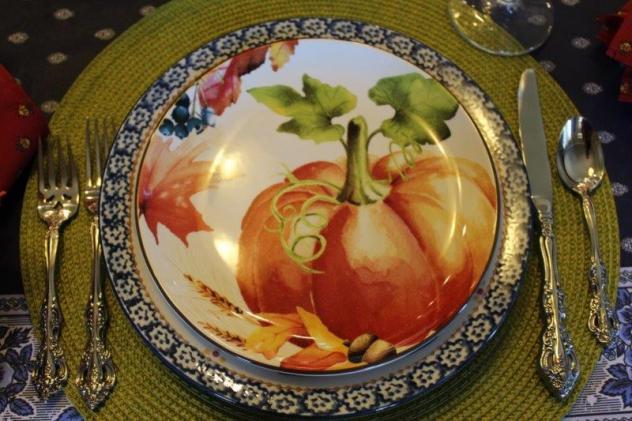 Belle Bleu Interiors Pumpkin Tablescape 3