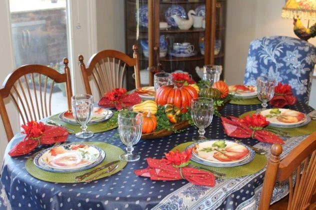Belle Bleu Interiors Pumpkin Tablescape 5