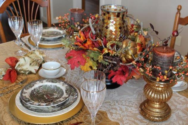 Belle Bleu Interiors Autumn Tablescape 2