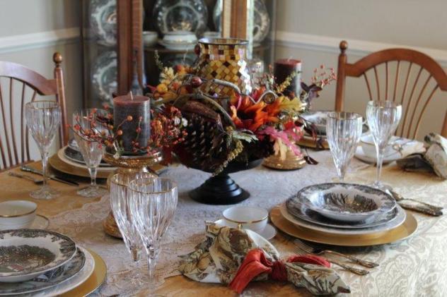 Belle Bleu Interiors Autumn Tablescape 6
