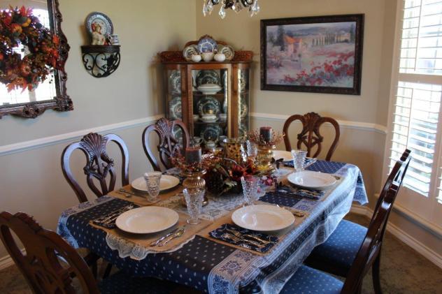 Belle Bleu Interiors Casual Autumn Dinner with Friends 1