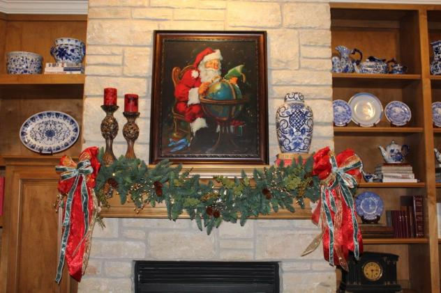 Belle Bleu Interiors French Country Christmas Mantel 9